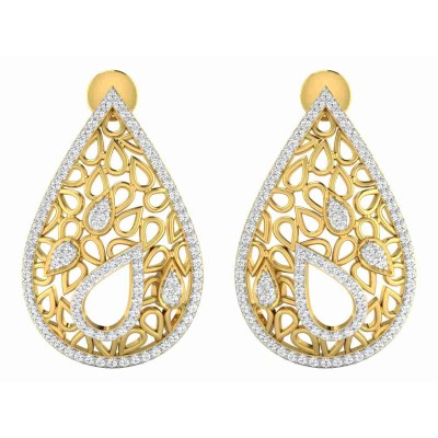 KAYE DIAMOND DROPS EARRINGS in 18K Gold