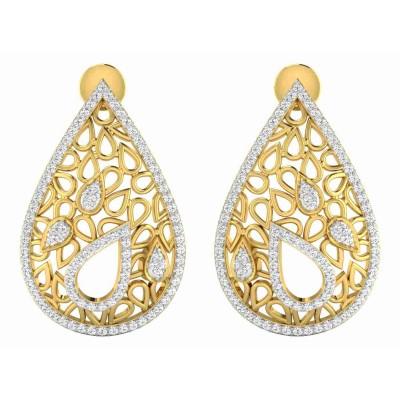 KAYE DIAMOND DROPS EARRINGS in 18K Gold