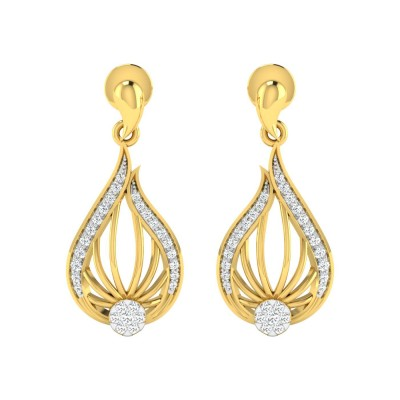 HALINA DIAMOND DROPS EARRINGS in 18K Gold