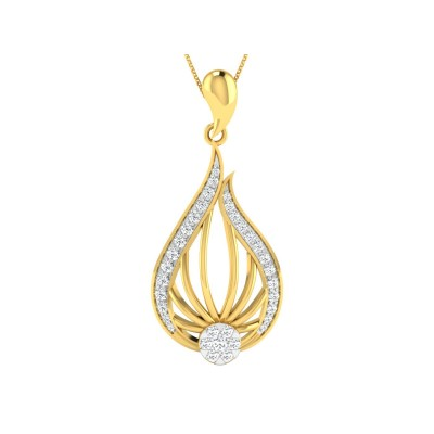 TRINA DIAMOND FASHION PENDANT in 18K Gold