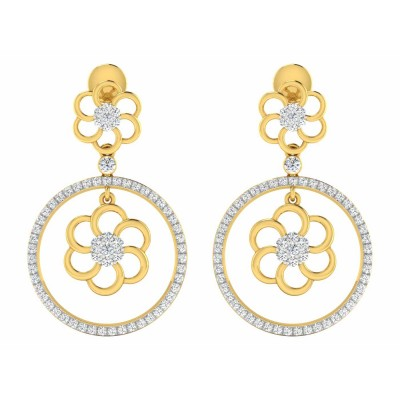 CARMELA DIAMOND DROPS EARRINGS in 18K Gold