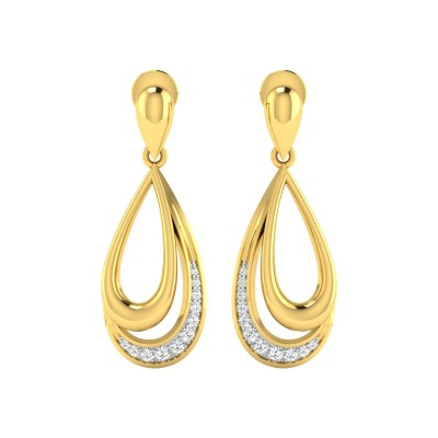 ADELINE DIAMOND DROPS EARRINGS in 18K Gold