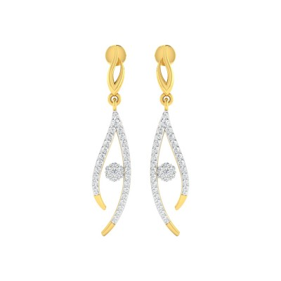 DAMARIS DIAMOND DROPS EARRINGS in 18K Gold