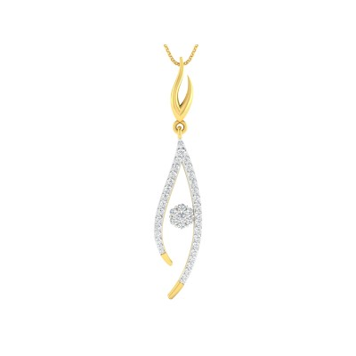 SABRA DIAMOND FASHION PENDANT in 18K Gold