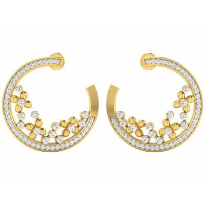 TORRI DIAMOND HOOPS EARRINGS in 18K Gold