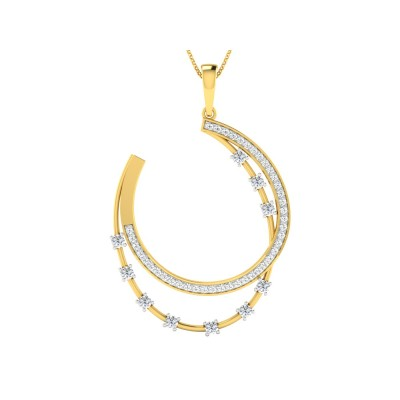 MELVA DIAMOND FASHION PENDANT in 18K Gold