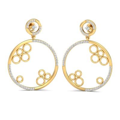 GAYNELL DIAMOND DROPS EARRINGS in 18K Gold