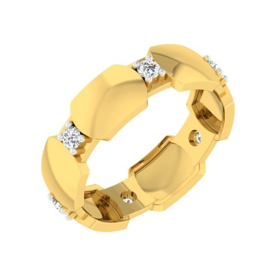 JACQUELIN DIAMOND BANDS RING in 18K Gold