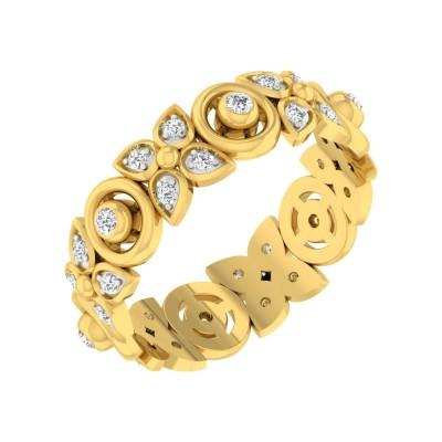 ZOLA DIAMOND BANDS RING in 18K Gold