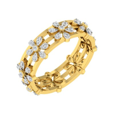 KAITLYN DIAMOND BANDS RING in 18K Gold