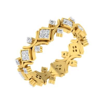 KYUNG DIAMOND BANDS RING in 18K Gold