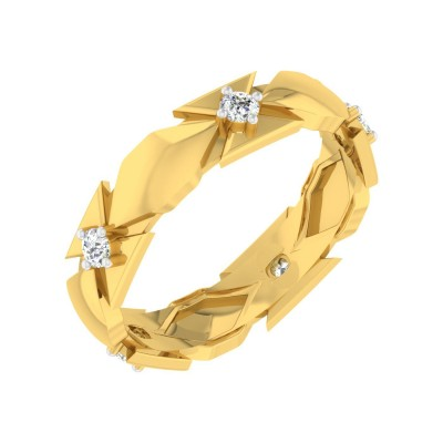 KELSEY DIAMOND BANDS RING in 18K Gold
