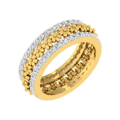 TASHINA DIAMOND BANDS RING in 18K Gold