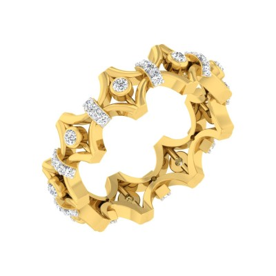 MARCENE DIAMOND BANDS RING in 18K Gold