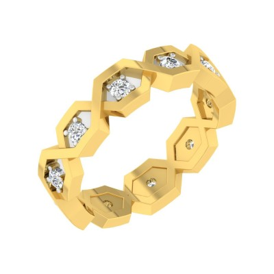 DARLEEN DIAMOND BANDS RING in 18K Gold