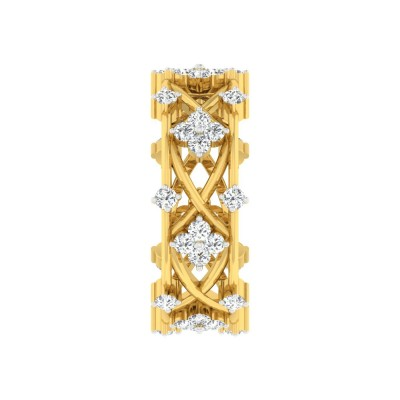 JERRIE DIAMOND BANDS RING in 18K Gold