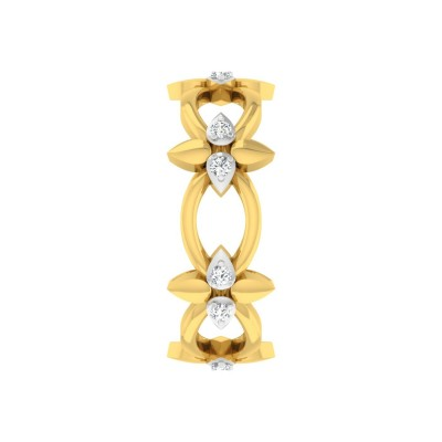 ISABELL DIAMOND BANDS RING in 18K Gold