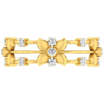 ANNABELLE DIAMOND BANDS RING in 18K Gold