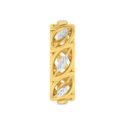 DESTINY DIAMOND BANDS RING in 18K Gold