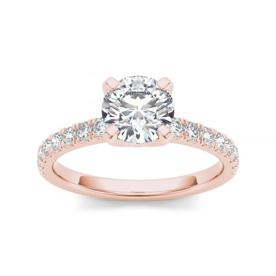 MELVINA DIAMOND SOLITAIRE RING in Cubic Zirconia & 18K Gold