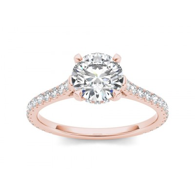 LAHOMA DIAMOND SOLITAIRE RING in Cubic Zirconia & 18K Gold