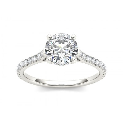 JOVAN DIAMOND SOLITAIRE RING in Cubic Zirconia & 18K Gold