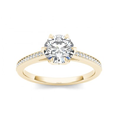 TABATHA DIAMOND SOLITAIRE RING in Cubic Zirconia & 18K Gold