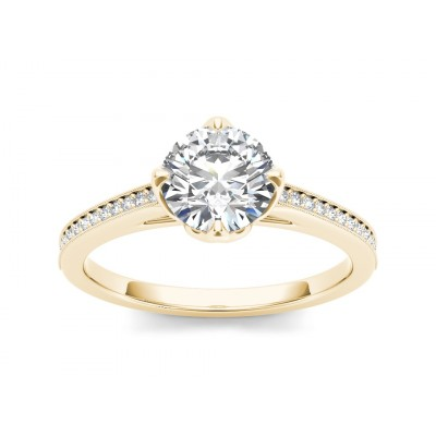 NIEVES DIAMOND SOLITAIRE RING in Cubic Zirconia & 18K Gold