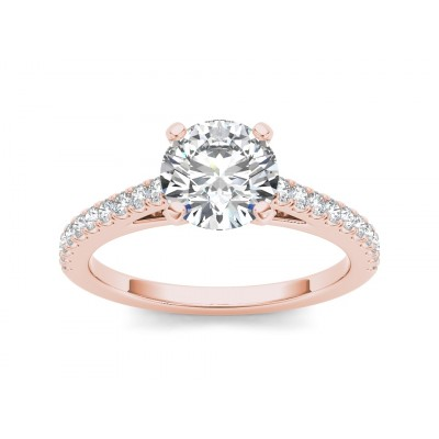 SHERLYN DIAMOND SOLITAIRE RING in Cubic Zirconia & 18K Gold