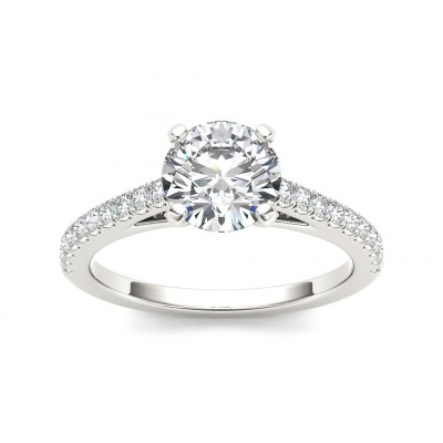 ZAIDA DIAMOND SOLITAIRE RING in Cubic Zirconia & 18K Gold