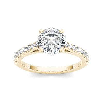 LEENA DIAMOND SOLITAIRE RING in Cubic Zirconia & 18K Gold
