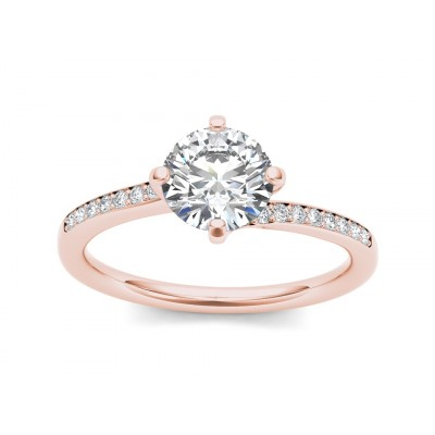 ALTHEA DIAMOND SOLITAIRE RING in Cubic Zirconia & 18K Gold