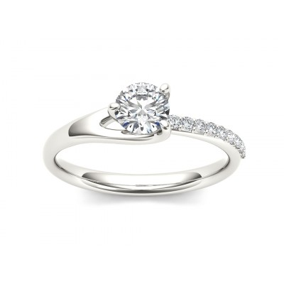 MATHILDA DIAMOND SOLITAIRE RING in Cubic Zirconia & 18K Gold