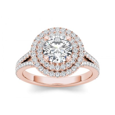 MACIE DIAMOND SOLITAIRE RING in Cubic Zirconia & 18K Gold