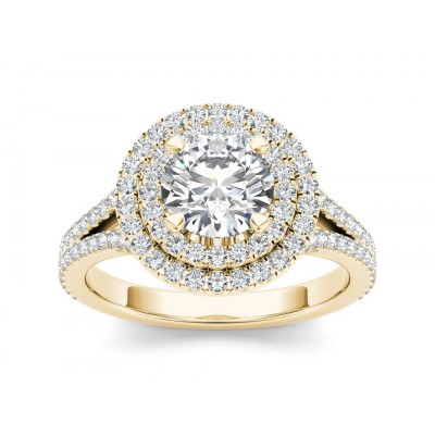 LATORIA DIAMOND SOLITAIRE RING in Cubic Zirconia & 18K Gold