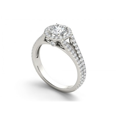 ZANA DIAMOND SOLITAIRE RING in Cubic Zirconia & 18K Gold