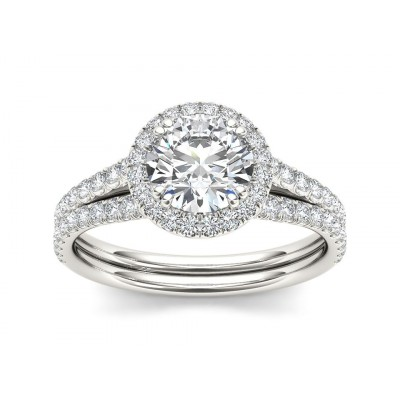 FLORENE DIAMOND SOLITAIRE RING in Cubic Zirconia & 18K Gold