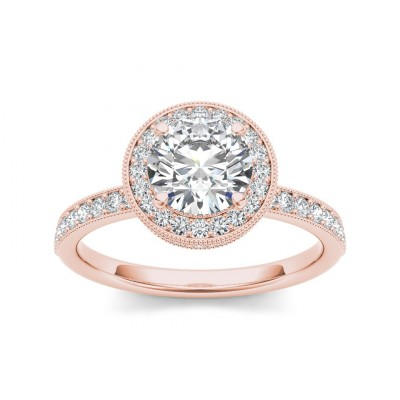 ANGLE DIAMOND SOLITAIRE RING in Cubic Zirconia & 18K Gold
