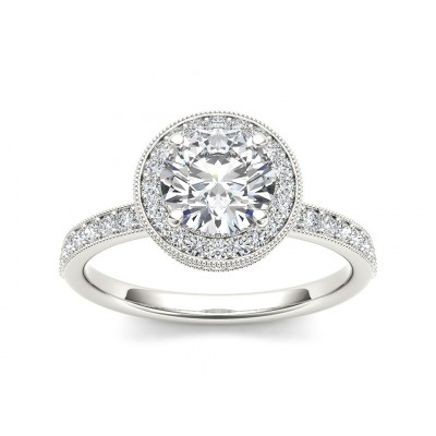 MALORIE DIAMOND SOLITAIRE RING in Cubic Zirconia & 18K Gold