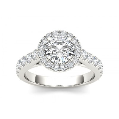 RICKI DIAMOND SOLITAIRE RING in Cubic Zirconia & 18K Gold