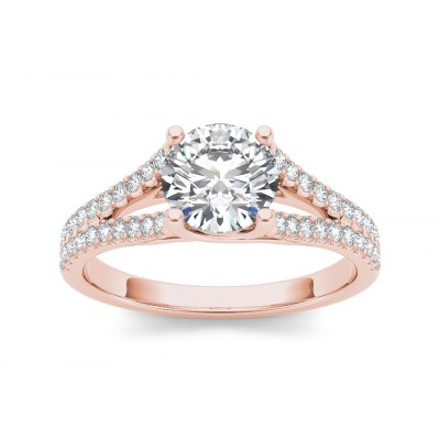 LASANDRA DIAMOND SOLITAIRE RING in Cubic Zirconia & 18K Gold