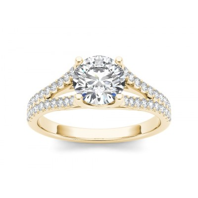 ILIANA DIAMOND SOLITAIRE RING in Cubic Zirconia & 18K Gold