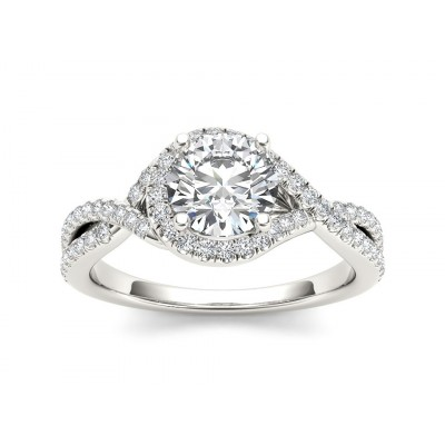 OZELL DIAMOND SOLITAIRE RING in Cubic Zirconia & 18K Gold