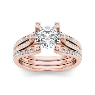 YULANDA DIAMOND SOLITAIRE RING in Cubic Zirconia & 18K Gold