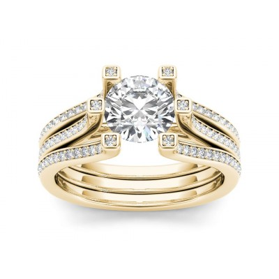 DEBRA DIAMOND SOLITAIRE RING in Cubic Zirconia & 18K Gold