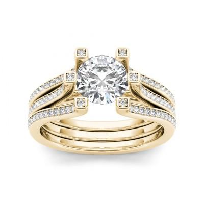 DEBRA DIAMOND SOLITAIRE RING in Cubic Zirconia & 18K Gold