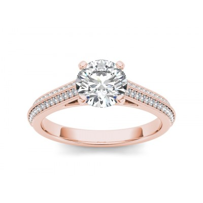 MARA DIAMOND SOLITAIRE RING in Cubic Zirconia & 18K Gold