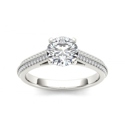 EARLEEN DIAMOND SOLITAIRE RING in Cubic Zirconia & 18K Gold