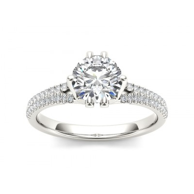 LINSEY DIAMOND SOLITAIRE RING in Cubic Zirconia & 18K Gold