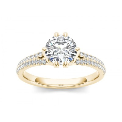 LIBERTY DIAMOND SOLITAIRE RING in Cubic Zirconia & 18K Gold